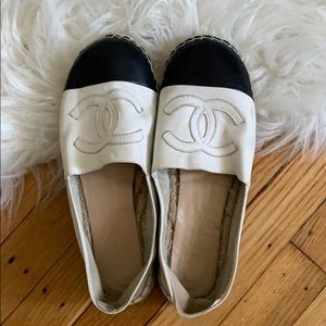 Chanel Espadrilles (Leather) - Authentic